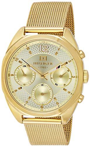 Tommy Hilfiger Relógio feminino analógico dourado 1781488