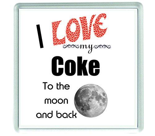 Ecool 10534 I love my Coke to the moon and back - Posavasos