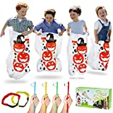 Twister.CK Halloween Party Games, Pumpkin Design Sack Race Bags, Egg and Spoon Race Games ...