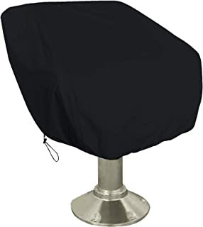Captain Chair Boat Seat Cover Protection Elastic Closure UV Resistant Waterproof