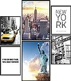 Papierschmiede® Mood-Poster Set New York | 6 fertig