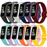 12 Pack Replacement Bands Compatible with Samsung Galaxy Fit 2 SM-R220 for Women Men Classic Waterproof Sport Watch Band Strap Wristband for Galaxy Fit 2 Smart Watch