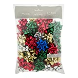 Hallmark Holiday 3' Bow Assortment (75 Bows; Traditional Holiday Colors) for Christmas Gifts