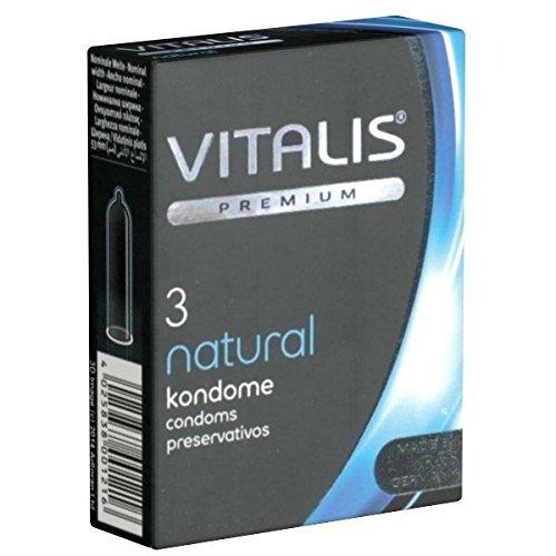 Vitalis Premium Natural Kondome für sicheren Intimverkehr, 1 x 3 Stück