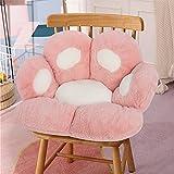 Cat Paw Cushion- Cute Plush Seat Cushion Office Chair Cushion Lazy Sofa Bear Paw Shape Soft Comfortable Pillow Cushion Cat Paw Mat Kawaii Chair Cushion for Chair Floor Bedroom Decoration