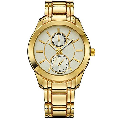 YXMAHW Modelos Femeninos Reloj De Manera De La Tabla Tabla De Observación Shi Ying Reloj De Moda De Línea Doble Redonda De Acero De Aleación,White-OneSize