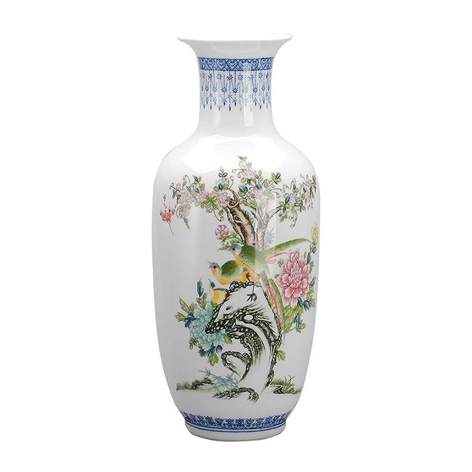 あいまい臨検放牧する花器 装飾装飾アートホームリビングルーム家庭用ベッドオフィステーブル白18のx 47センチメートルのためのクラシック花瓶セラミック風景シンプル 花瓶