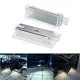 LEDFEWAG 2 piezas Auto Puerta Iluminación de Entrada Door Luz de bienvenida Compatible para E60 E87 E70 E90 E92 E63 E65 E85 M3 MINI Z4 R50 R52 R53