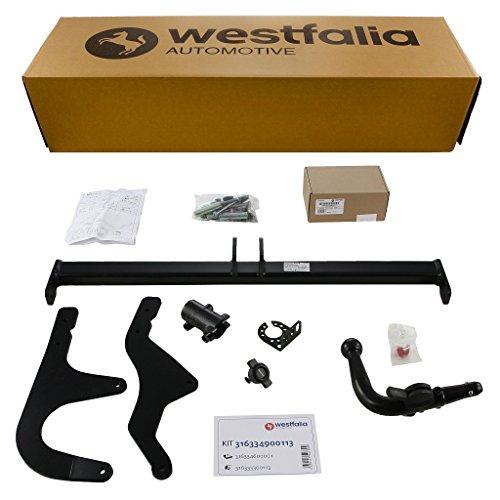 Westfalia Abnehmbare Anhängerkupplung - AHK für Dacia Dokker X67 (BJ ab 11/2012) im Set mit 13-poligem fahrzeugspezifischen Elektrosatz