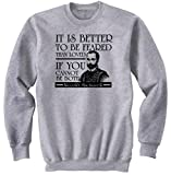 Photo de teesquare1st Men's Niccolograve Machiavelli Grey Sweatshirt Size Large
