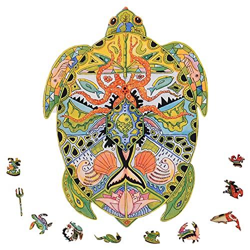 FORMIZON Rompecabezas de Animales, Forma Única Piezas de Puzzle, Piezas de Rompecabezas, 5D Puzzle de Madera, Puzzle de Animales para Colección de Juegos Familiares