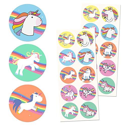 TownStix Unicornio Niños Pegatinas - 10 diseños, 20 Hojas, 200 Pegatinas