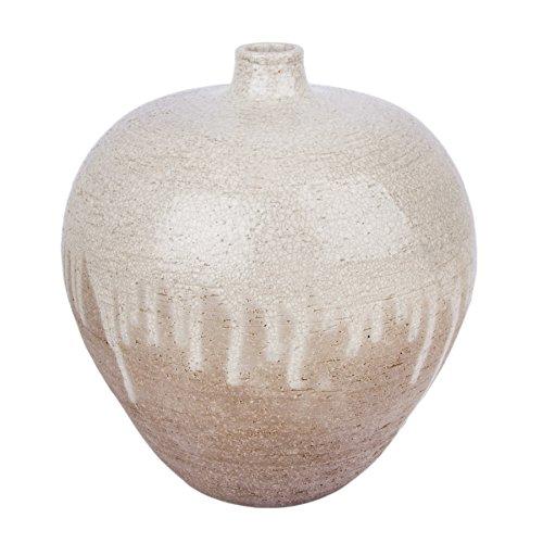 Dekovasen Samos Bodenvase Design Samos Keramik Töpfervase große Vasen Zement/Beton (M, Grau)