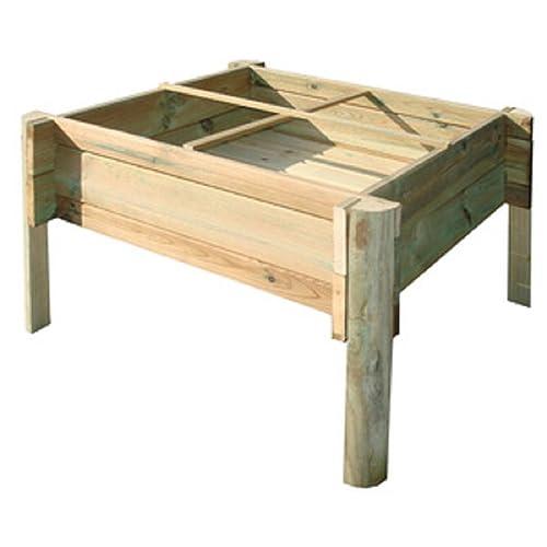 erbe orti orti BALCONE TERRAZZO Altamente orti da legno di pino legno grigio
