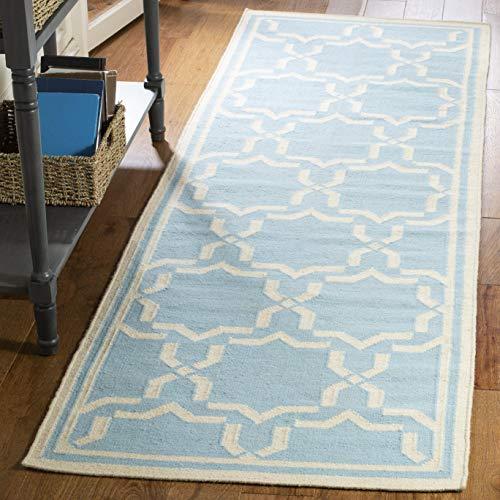 Safavieh Dhurries Collection DHU545B Handmade Flatweave Premium Wool Runner, 2