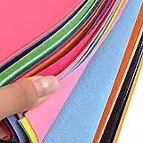 Filz Stoffbahnen 40pcs, Textilstoffe DIY Craftwork Filz Crafts, 40 Farbig Patchwork Nähen Polyester Filz Blatt für Craft (15 * 15 * 0.1cm)