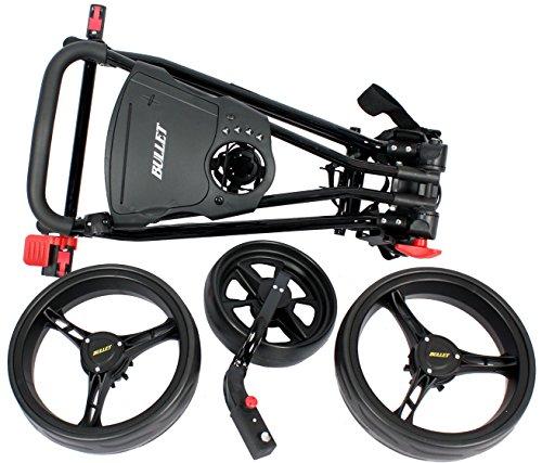 Golfwagen Bullet 5000 professional, klappbar mit mit leicht-Klick-System schwarz - 6
