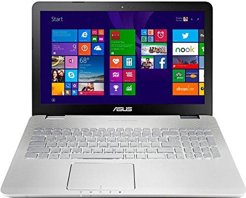 Asus N551JX-CN290T 39,6 cm (15,6 Zoll, mattes FHD) Laptop (Intel Core i7-4720HQ, 16GB RAM, 1024GB SSHD, NVIDIA GF GTX950M, Blu-ray, Win 10 Home) silber