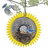 NEROSUN Bird Feeders for Outside, Outdoors, Squirrel Proof Sunflower Shape Hanging Wild Bird Feeders for Garden, Yard Decoration