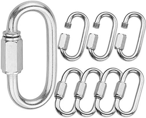 Holan M7 Quick Link Oval Carabiner 8pcs 7mm Quick Links Chain Connector Locking Carabiner Clip product image