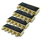 ARLI HD DiseqC Schalter 4X 4/1 vergoldet Switch Umschalter Wetterschutzgehäuse Wetterschutz 4X SAT LNB 3D 4K UHD Verteiler Gold 4x1 4 1 4 Stück