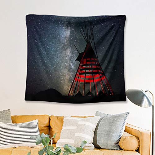 nobranded Camping Landschaft Dark Night Camping Zelt Breite Wandbehang Für Schlafzimmer Wohnzimmer Wohnheim (150 * 130cm)