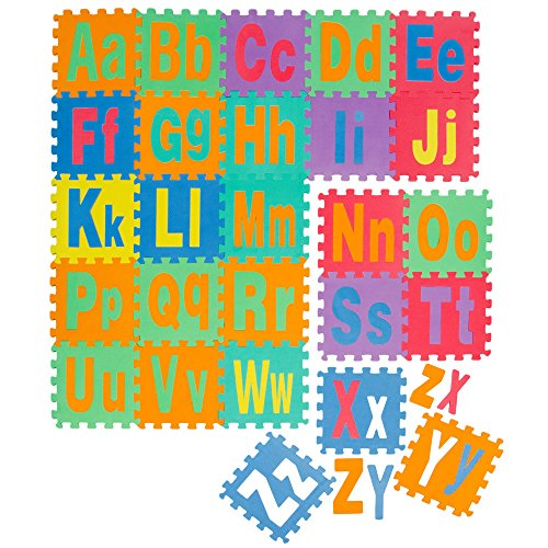 LittleTom Tappeto Puzzle per Bambini Morbido Tappetino Gioco Neonati Lettere
