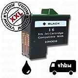 Cartucho de Tinta de Color Negro para LEXMARK para la Serie x : x1110, x1130, x1140 etc . Es un Recambio del Original NR. 16 10N0016 NR. 17 10N0217