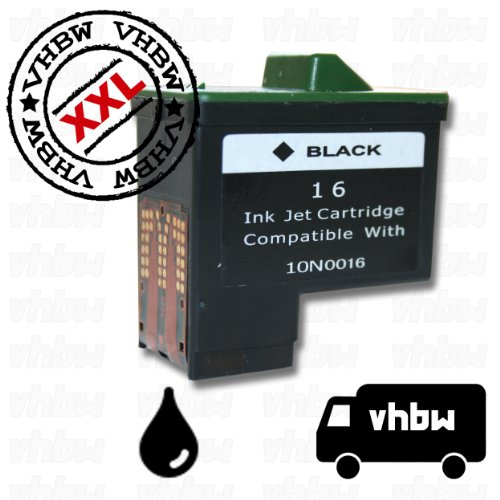 Cartucho de Tinta de Color Negro para LEXMARK para la Serie x : x1110, x1130, x1140 etc Es un Recambio del Original NR. 16 10N0016 NR. 17 10N0217
