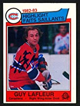 Guy Lafleur Autographed Memorabilia 1983-84 O -Pee -Chee Card #183 Montreal Canadiens 150231 - Certified Authentic