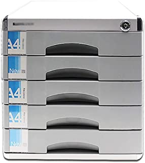 KANJJ-YU Bureau tiroir Sorter, en alliage d'aluminium à 7 couches supports à journaux tiroir verrouillable bureau Organise...