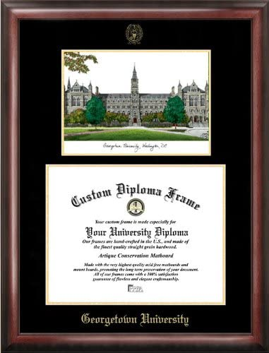 Campus Images Georgetown University Diploma shopping Gold Surprise price Embossed Frame
