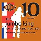 Rotosound JK10 - Juego de cuerdas para guitarra acústica de fósforo/bronce, 010-050