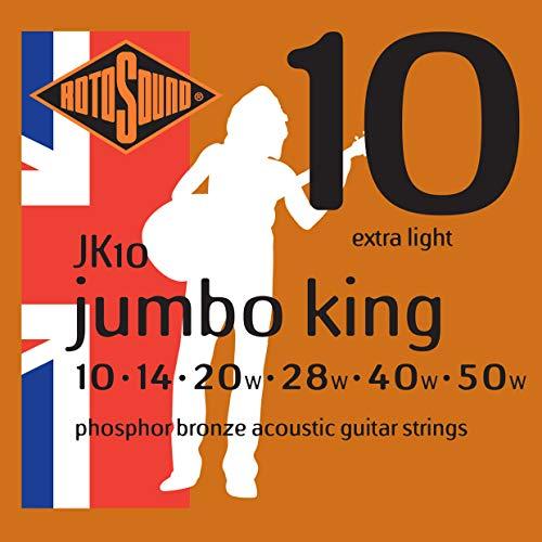 Rotosound JK10 - Juego de cuerdas para guitarra acústica de