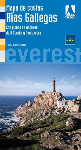 Mapa de Costas Rías Gallegas: Con planos de accesos de A Coruña y Pontevedra (Mapas de Costas de España / serie azul)