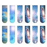 Yardwe 18 marcadores magnéticos de papel creativo exquisitos marcadores elásticos con 12 constelaciones patrón nocturno