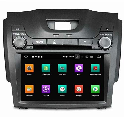 Multimédia automatique ROADYAKO 2Din 8Inch Anroid 8.0 pour Chevrolet S10 / Isuzu D-Max 2013 2014 2015 2016 2017 2017 Autoradio stéréo avec navigation GPS Lien de miroir 3G WIFI RDS FM AM Bluetooth AUX