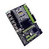 Joliy Placa Base X58 LGA 1366 Socket USB2.0 DDR3 CPU PC Computadora de Escritorio Placa Base para Juegos para Tarjeta gráfica RX560 570