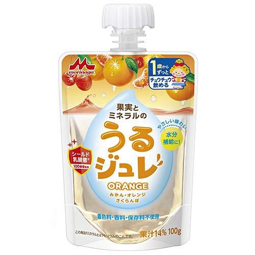 森永乳業 うるジュレ ORANGE 100gパウチ×36本入