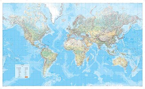 Die Große Weltkarte (physisch) 1:30 000 000, plano in Hülse (MAIRDUMONT Panoramen)