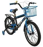 Airel Kinderfahrräder für Jungen und Mädchen | Fahrrad mit Rollen und Korb Kinderfahrrad | Fahrrad Kinder 16 und 18 Zoll | Fahrräder Kinder 4-7 Jahre | Farbe: Himmelblau Zoll: 18