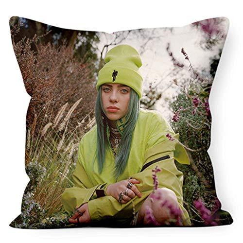 Xdsy Billie Eilish Album Foto Poster Postkarte sollte Puppe Kissen Sofa Kissen Stuhl Stuhl Kissen helfen,18