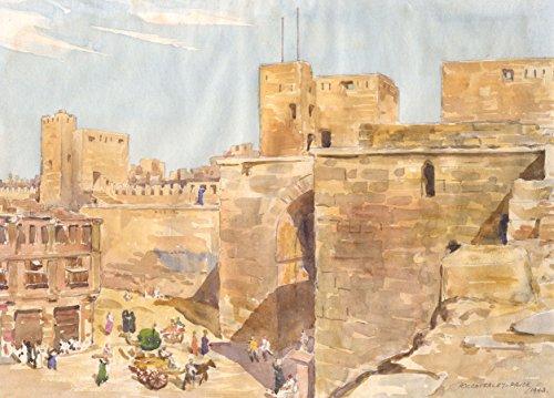 Sulis Fine Art Arthur Victor coverley-price–firmato 1943acquerelli, città del medio Oriente