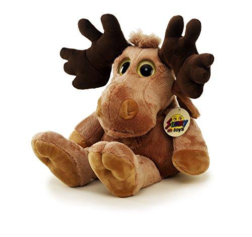 Unbekannt Sunny Toys 39010 - Plüsch Elch mit Beanies, Circa  48 cm