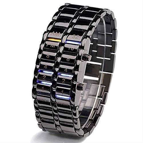Pantalla LED a prueba de agua reloj de pulsera de Pareja bin