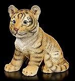 Figuren Shop GmbH Gartenfigur - Kleines Tiger Baby | Tierfigur, Deko-Figur, Garten-Deko, wetterbeständig, H 11 cm