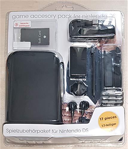Zubehörset 17tlg für Nintendo DS Hardcase Kopfhörer Stift Spiel Komfortpaket