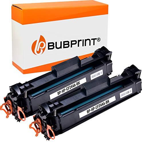 2 Bubprint Toner kompatibel für HP CF244A 44A für Laserjet Pro M15 M15a M15w M17 M17a M17w MFP M28 M28a M28w 1.000 Seiten Schwarz Black