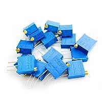 HiLetgo 電子部品バッグ 3296可変抵抗袋 15種類常用抵抗値 各種1pcs 合計15pcs [並行輸入品]