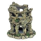 MagiDeal Decoración de Acuario Decoración Artificial de Resina, Decoración Modelo de Coliseo Romano para Acuario, Paisaje, Casa de Reptiles